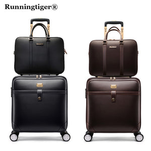 "- Luxury Suitcase Set Men Women 's Travel Luggage Waterproof PVC leather Box Wheel 16""20""24"" inch Rolling Trolley case travel bags - guiro - Zeinab Fashion"