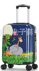 - New Fashion 19'20' Cute Cartoon Suitcases Wheel Kids Boys And Girls Rolling Luggage Spinner Trolley Children Travel Bag Student - guiro - Zeinab Fashion