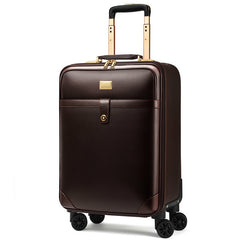 - Luxury Travel Suitcase Rolling Spinner Luggage Women Trolley case 24inch Wheels Man 20inch Box PVC Vintage Cabin Travel BagTrunk - guiro - Zeinab Fashion