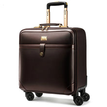 Load image into Gallery viewer, ,Luxury Travel Suitcase Rolling Spinner Luggage Women Trolley case 24inch Wheels Man 20inch Box PVC Vintage Cabin Travel BagTrunk,guiro,Zeinab Fashion.