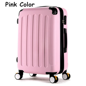 Luggage,High quality 20inches candy color abs pc travel luggage bags on brake universal wheels, hardside suitcase for girl,guiro,Zeinab Fashion.
