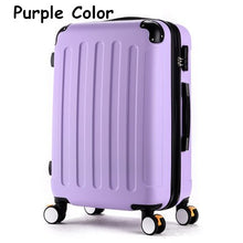 Load image into Gallery viewer, Luggage,High quality 20inches candy color abs pc travel luggage bags on brake universal wheels, hardside suitcase for girl,guiro,Zeinab Fashion.