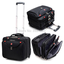 Load image into Gallery viewer,  - Cabin size Rolling Luggage Travel Suitcase Multifunction Business box Carry Ons Laptop Bag Trolley Case for Men and Women - guiro - Zeinab Fashion
