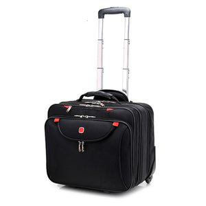 - Cabin size Rolling Luggage Travel Suitcase Multifunction Business box Carry Ons Laptop Bag Trolley Case for Men and Women - guiro - Zeinab Fashion