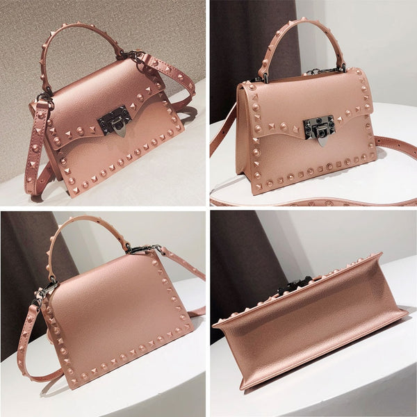 - 2019 Jelly Bags For Women Solid Flap Fashion Messenger Bag Rivet Women Shoulder Bag Small Lady Handbags High Quality Bags Women - guiro - Zeinab Fashion