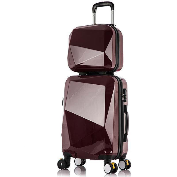 - Travel Suitcase Set Rolling Luggage Set Spinner Trolley Case Boarding Wheel Woman Cosmetic Case Carry-On Luggage Travel Bags - guiro - Zeinab Fashion
