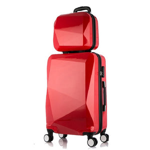 ,Travel Suitcase Set Rolling Luggage Set Spinner Trolley Case Boarding Wheel Woman Cosmetic Case Carry-On Luggage Travel Bags,guiro,Zeinab Fashion.