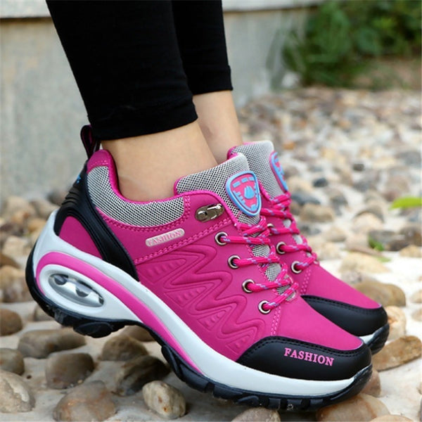 - New 2019 women sneakers high quality leather suede air damping casual shoes non-slip women shoes tenis feminino - guiro - Zeinab Fashion