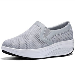 - Women Breathable Mesh Casual Shoes Height Increasing Rocking Shoes Sports Wedge Sneakers Fashion Platforms Women Shoes Size 42 - guiro - Zeinab Fashion