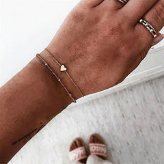 Jewelry - Stylish Boho Bangle Elephant Heart Shell Star Moon Bow Map Crystal Bead Bracelet Women Charm Party Wedding Jewelry Accessories - guiro - Zeinab Fashion