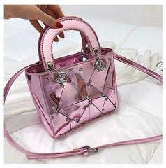 - British Fashion Female bag 2018 Summer Fashion New Handbag Tote bag High quality PU Leather Women bag Mirror Handle Shoulder Bag - guiro - Guiro