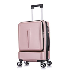 - 20 24 inch Front Opening Valise Travel Suitcase Bag With Laptop Pocket Koffer Three-digit Password Lock Mala Carry On Luggage - guiro - Zeinab Fashion
