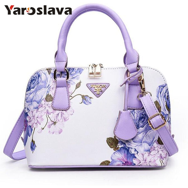 - Printing Floral Fashion Women Bag Brand Shell Leather Bags Women Handbags Designer Shoulder Bags Sac A Main Femme  LL489 - guiro - Zeinab Fashion