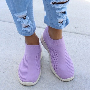 ,Plus Size 43 Sneakers Women Stretch Fabric Socks Shoes Woman Fashion Vulcanize Shoes Slip On Tenis Feminino Women Casual Shoes,guiro,Zeinab Fashion.