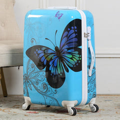 - Travel Belt Fashion Women Retro butterfly 20/24/26 inch Rolling Luggage Spinner Men Travel Bags Suitcase Wheels - guiro - Zeinab Fashion