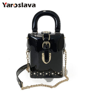 - 2019 Famous brand Diamond box handbags mini Cube Brand original design crossbody bag for women messenger bags LL409 - guiro - Zeinab Fashion