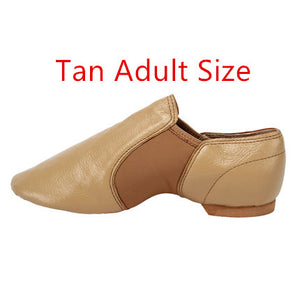 - 2019 New  Jazz Slip on Dance Sneakers Dancing Shoes for Ladies Black Tan    Adults & Children - guiro - Zeinab Fashion