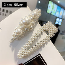 Load image into Gallery viewer,  - Korean Simulated Pearl Barrettes Beaded Geometric Women Hair Clip Hairgrips Hair Accessories Girls Jewelry Fashion Hair Pins - guiro - Guiro