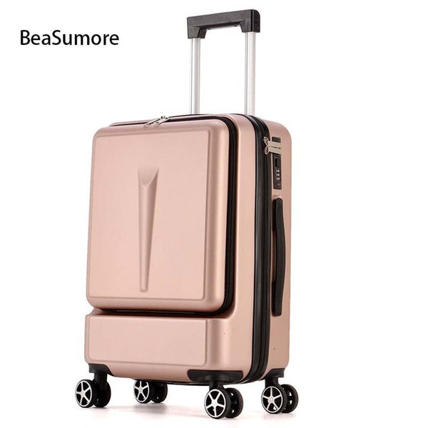 - Creative Rolling Luggage Spinner Suitcase Wheels Men Trolley Women Travel bag On Wheel Cabin Password Trunk - guiro - Zeinab Fashion