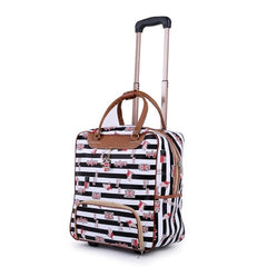 - New Hot Fashion Women Trolley Luggage Rolling Suitcase Brand Casual Stripes Rolling Case Travel Bag on Wheels Luggage Suitcase - guiro - Zeinab Fashion