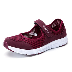 ,Women shoes 2019 new spring lightweight mesh ladies shoes comfortable hiking outdoor mother casual shoes woman sneakers,guiro,Zeinab Fashion.
