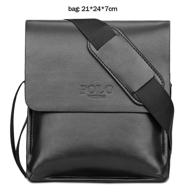 - Famous Brand Leather Men Bag Casual Business Leather Bag Set Man Messenger Bag Vintage Crossbody Bag bolsas male - guiro - Zeinab Fashion