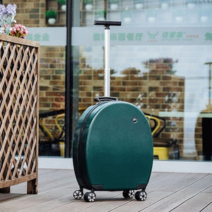 ,Can sit Women Korean Rolling Luggage Spinner 20 inch High capacity Fashion Travel Bags Password Cabin Suitcase Wheels,guiro,Zeinab Fashion.