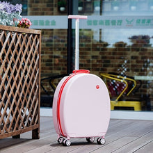 Load image into Gallery viewer, ,Can sit Women Korean Rolling Luggage Spinner 20 inch High capacity Fashion Travel Bags Password Cabin Suitcase Wheels,guiro,Zeinab Fashion.