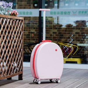 - Can sit Women Korean Rolling Luggage Spinner 20 inch High capacity Fashion Travel Bags Password Cabin Suitcase Wheels - guiro - Zeinab Fashion