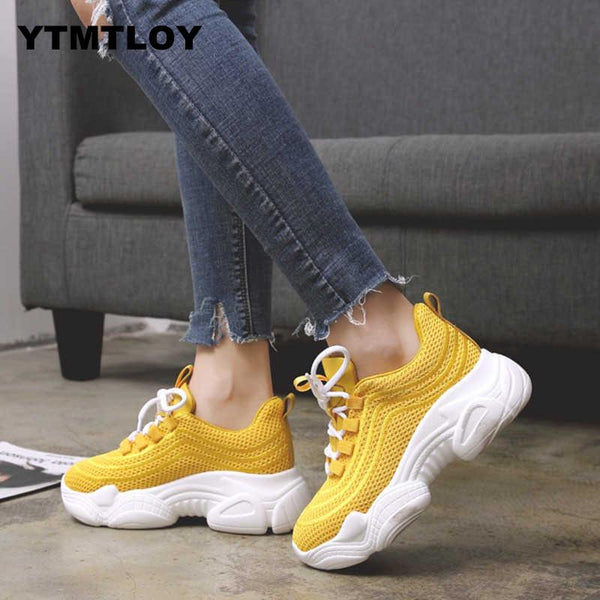 - Women Sneakers Autumn  air Mesh Tenis Fashion Casual Shoes Woman Comfortable Breathable Flats Female Platform Chaussure Femme 0 - guiro - Zeinab Fashion