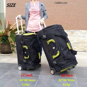 "- Travel tale waterproof High capacity Travel Suitcase ,Rolling Luggage Oxford cloth bag,Women Trolley Case , Men 27""30"" inch box - guiro - Zeinab Fashion"