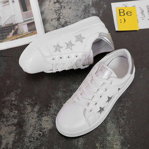 - 2019 Spring Women Shoes Summer Women White Casual Shoes Breathable Flats Fashion Sneakers Women Vulcanization Shoes - guiro - Zeinab Fashion