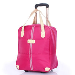 - Fashion Women Trolley Luggage Rolling Suitcase Travel Hand Tie Rod Suit Casual  Rolling Case Travel Bag Wheels Luggage Suitcase - guiro - Zeinab Fashion