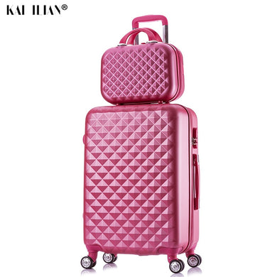 ,Fashion Cosmetic Bag, Travel Spinner Password Luggage, Woman Rolling Suitcase,guiro,Zeinab Fashion.