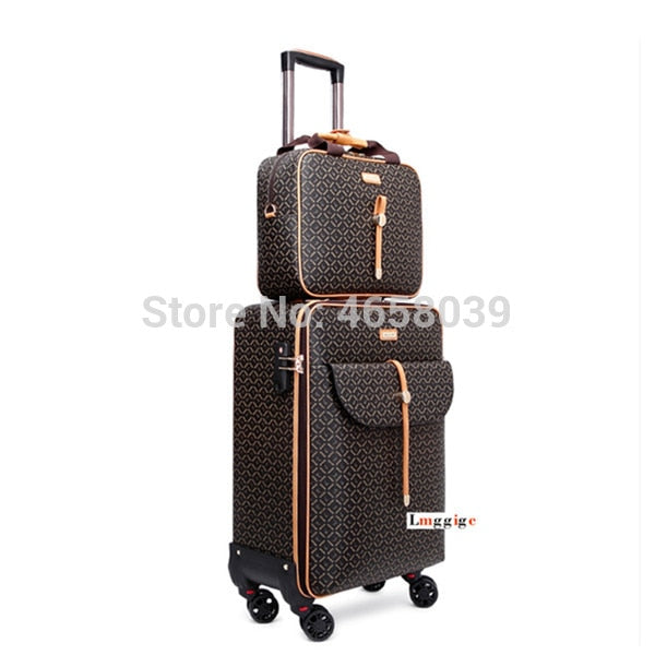 - Women Luggage bag with handbag Rolling Suitcase set - guiro - Zeinab Fashion