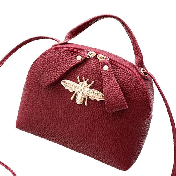 - 2019 Summer Women Shoulder Bags Fashion Cute Bee Crossbody Bag PU Leather Casual Handbag Large Capacity Phone Messenger Bags - guiro - Guiro
