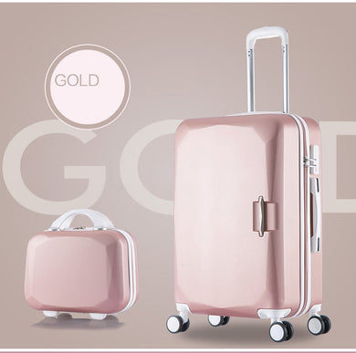 ,High Capacity Rolling Luggage Spinner Students Password Suitcase Wheels Carry-On Trolley Travel Bag,guiro,Zeinab Fashion.