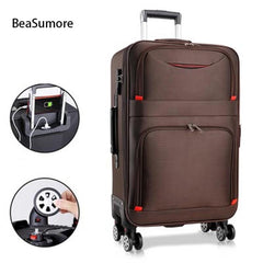 - BeaSumore UPS chargeable Rolling Luggage Spinner 28 inch Women High capacity Password Trolley Men Business Suitcase Wheels - guiro - Zeinab Fashion
