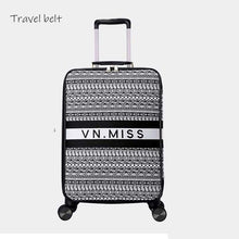 Load image into Gallery viewer, ,Travel Belt classic Brand Rolling Luggage and handbagSpinner women Retro Canvas Travel Bags fashion Suitcase Wheels,guiro,Zeinab Fashion.