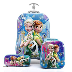 - Boy's Car Trolley Case Wheeled Rolling Bag 3D Children Travel Suitcase Trolley School Backpack Kid's Trolley Bags with Wheels - guiro - Zeinab Fashion