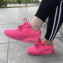 Load image into Gallery viewer, ,Sneakers Women Shoes Trainers Lace Up Trend Casual Shoes Brand Shoes for Woman Black Green Red Femme Zapatillas Mujer,guiro,Zeinab Fashion.