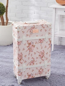 - Travel Belt  Retro, stylish, perfect Women Flowers 20/22/24/26inch size Rolling Luggage and handbag Spinner Brand Suitcase - guiro - Zeinab Fashion