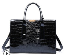Load image into Gallery viewer,  - Bags For Women 2019 Luxury Handbags Women Bags Designer Crocodile Pattern Leather Shoulder Messenger Bag sac a  C824 - guiro - Zeinab Fashion
