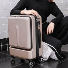 Load image into Gallery viewer,  - Travel Tale Can Board Front Computer Bag High quality Business Luggage Spinner Brand Travel Suitcase - guiro - Zeinab Fashion