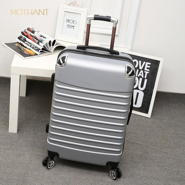 - 20 inch abs trolley case student suitcase male password box female suitcase trolley case luxury suitcase  rolling luggage - guiro - Zeinab Fashion