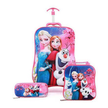 Load image into Gallery viewer,  - Children Anime Travel Trolley Case Kids Travel 3PCS/set Suitcase Boy Girl Creative Cartoon Pencil Box Children Christmas Gift - guiro - Zeinab Fashion