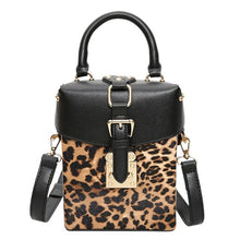 Load image into Gallery viewer, ,Personalized Box Handbags Mini Cube Design Crossbody Bags For Women Messenger Bags Leopard,guiro,Zeinab Fashion.