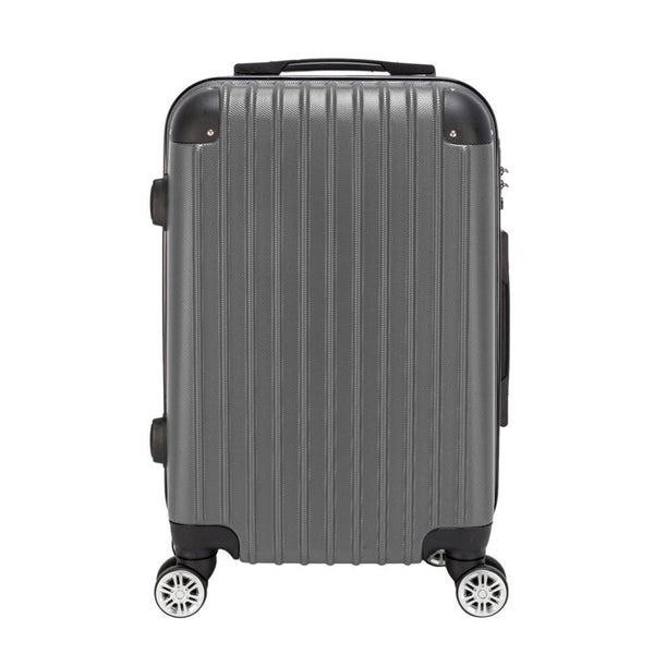 - 20 inch Waterproof Spinner Luggage Travel Business Large Capacity Suitcase Bag Rolling Wheels Gray Color - guiro - Zeinab Fashion