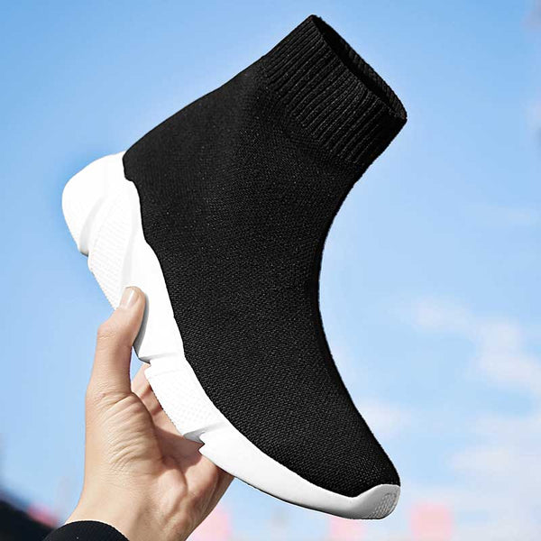 - Designer Women Socks Sneakers High Top sports Shoes female Trainers Breathable Casual Shoes ladies Slip On Summer basket femme - guiro - Zeinab Fashion