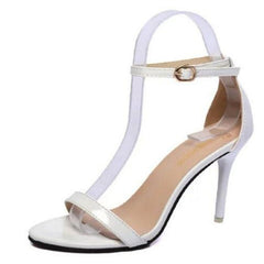 - Summer Women Shoes Sandals Buckle Strap High Heels Open Toe Platform Sandals Silver Gold Sandalias Mujer Ladies Shoes Plus size - guiro - Zeinab Fashion